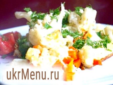 Омлет з кольоровою капустою і кабачками