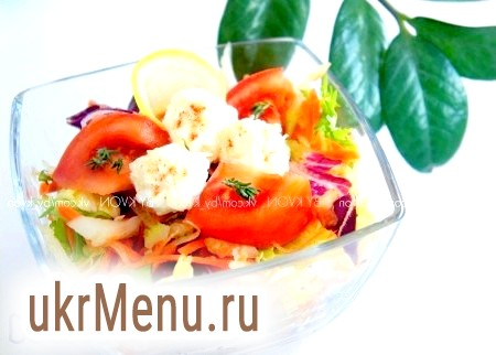 Овочевий салат з сирними кульками