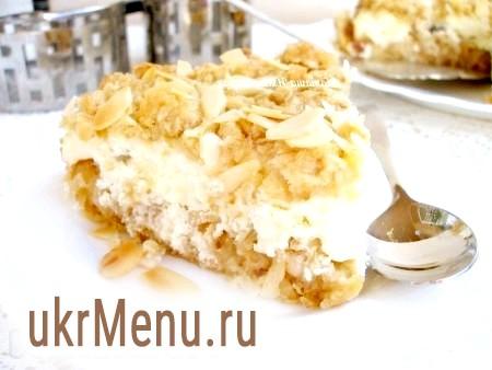 Вівсяний пиріг з сирною начинкою