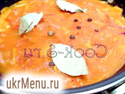 Фото - овочі в томатному соусі