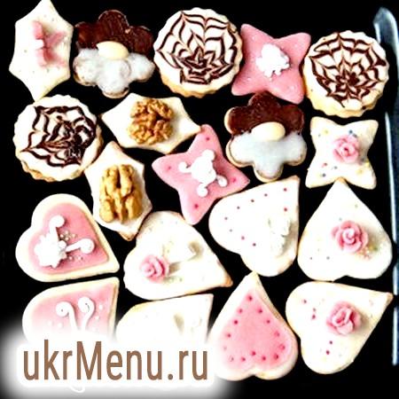 Печиво сердечка з марципаном до дня святого валентина