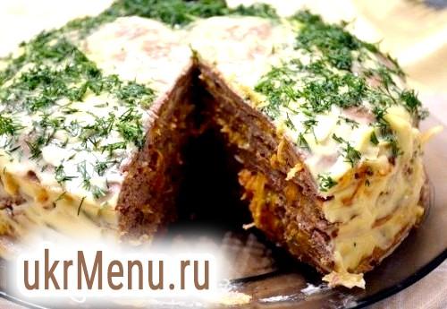 Печінковий торт. найкращі рецепти