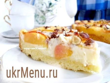 Персиковий пиріг з маскарпоне