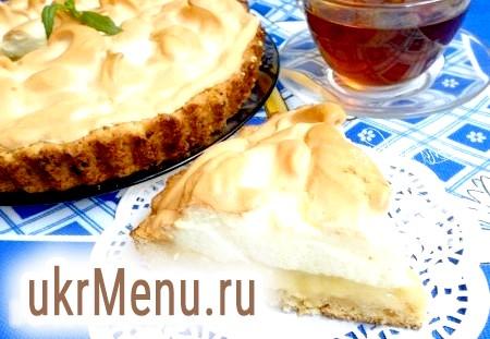 Пісочний пиріг з персиками