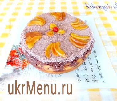 Пиріг абрикосовий двошаровий в мультиварці