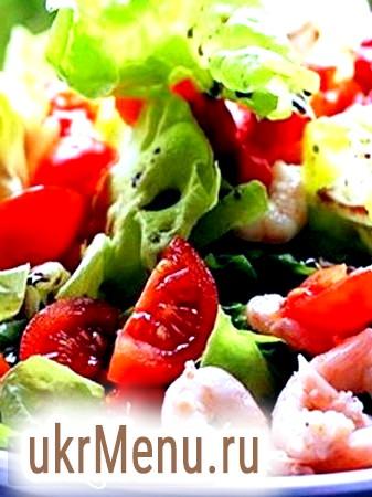 Правильний і смачний рецепт приготування салату з креветками і помідорами