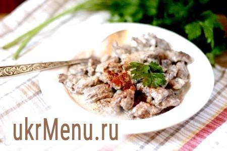 Приготування бефстроганов з яловичини