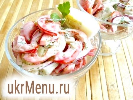 Простий річний салат