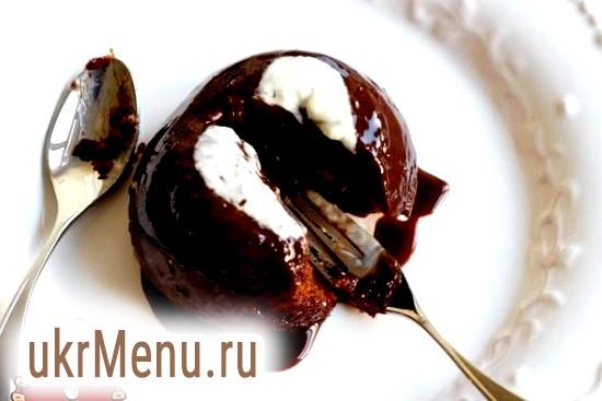 Пудинг з какао і мигдалем