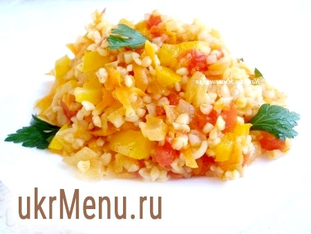 Рецепт булгура з овочами