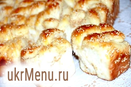 Рецепт булочок з кунжутом