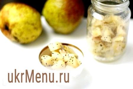Рецепт грушевого варення з маком і кардамоном