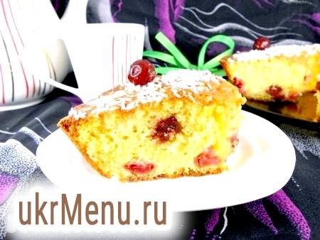 Рецепт кексу з вишнею