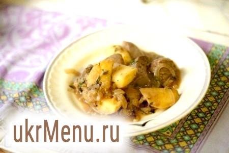 Рецепт курячої печінки з яблуками