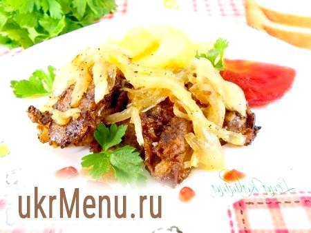 Рецепт курячої печінки з цибулею