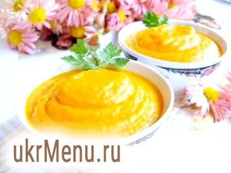 Рецепт морквяного супу-пюре