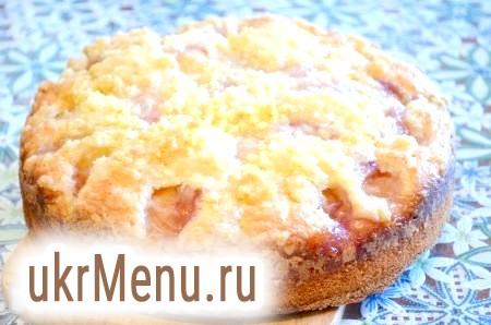 Фото - Піч персиковий пиріг при температурі 180 градусів 30-40 хвилин, дивіться по своїй духовці. Готовність перевіряти сірником. Готовий пиріг остудити, дістати з форми.