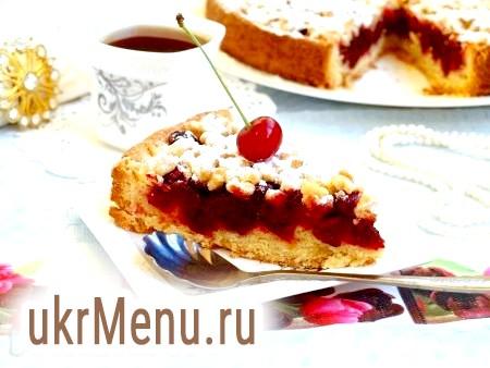 Рецепт пісочного пирога з вишнею