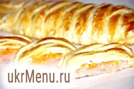 Рецепт пирога з рибою з листкового тіста