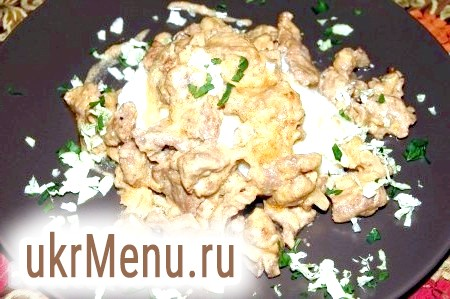 Рецепт приготування бефстроганов з яловичини