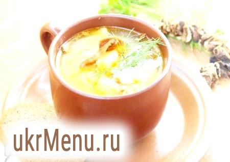 Рецепт приготування грибного супу з манкою