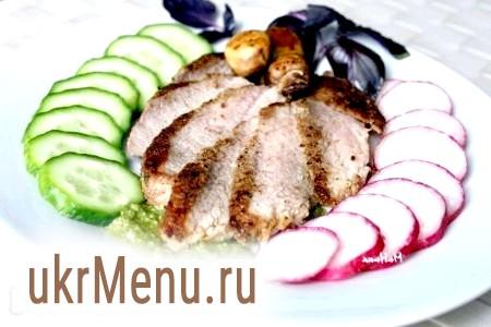 Рецепт приготування стейка з свинини