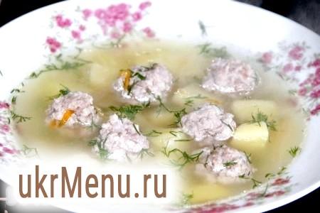 Рецепт приготування супу з фрикадельками