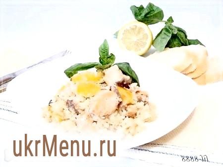 Рецепт рису з лососем