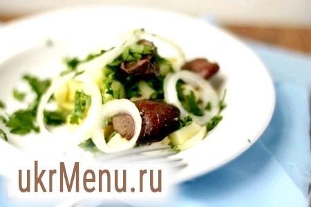 Рецепт салату з курячої печінки