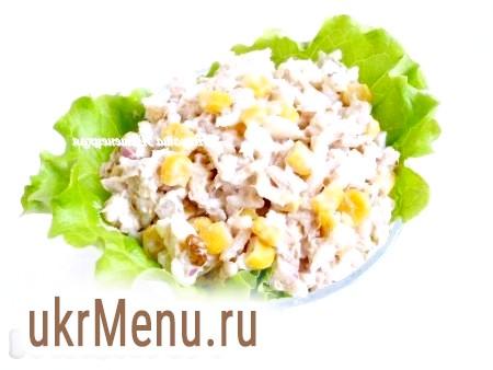 Рецепт салату з консервованим тунцем