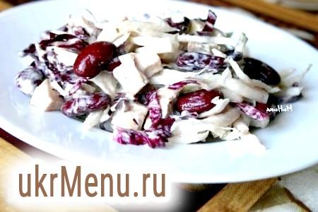 Рецепт салату з куркою і квасолею