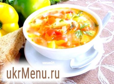 Рецепт супу з овочів