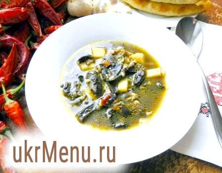 Рецепт супу з сухих грибів