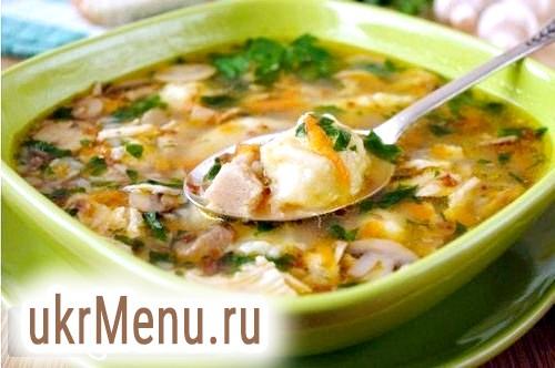 Рецепт супу з галушками.