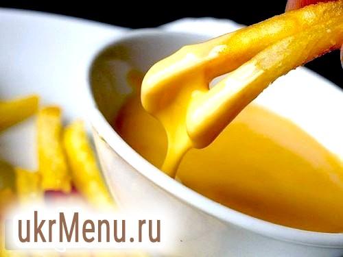 Рецепт сирного соусу.