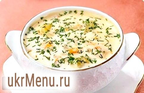 Рецепт сирного супу з грибами і куркою.