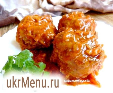 Рецепт тефтелей в томатному соусі