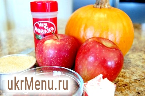 Рецепт запеченої гарбуза з яблуками в духовці.