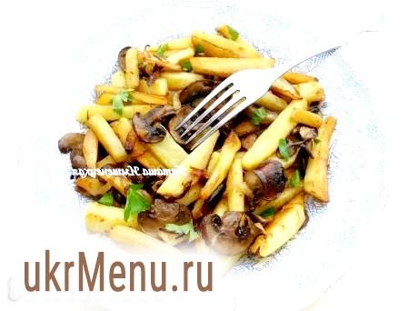 Рецепт смаженої картоплі з грибами