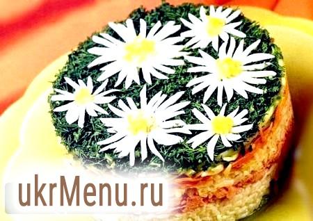 Рецепти незвичайного салату ромашка