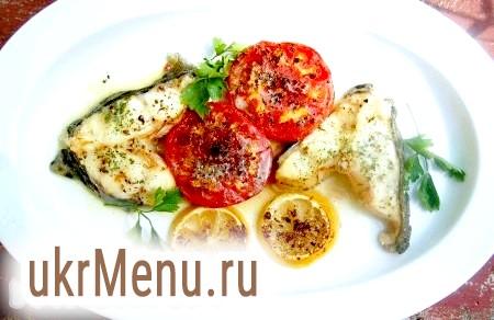 Риба в духовці з помідорами