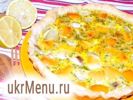 Рибний пиріг з плавленим сиром