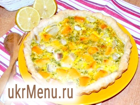 Фото - Рибний пиріг із сиром виходить смачним, ніжним.