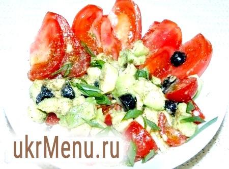Салат з авокадо з помідорами