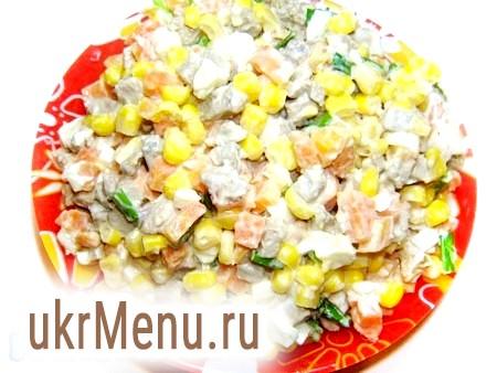 Салат з яловичої печінки