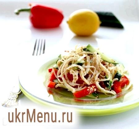 Салат з курячої грудки з овочами