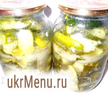 Салат з огірків з часником