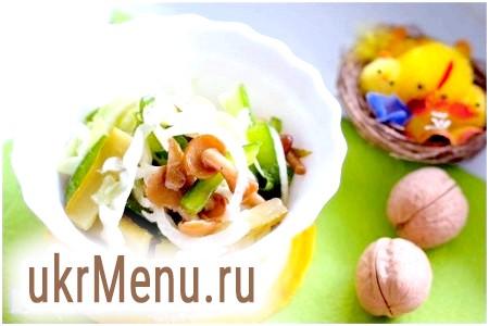Салат з овочів з грибами