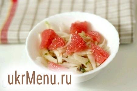 Салат з пекінської капусти з грейпфрутом