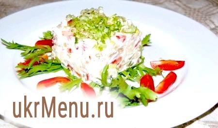 Салат з вареної тріски